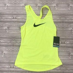 Nike Pro Neon Yellow Dri Fit Tank Top